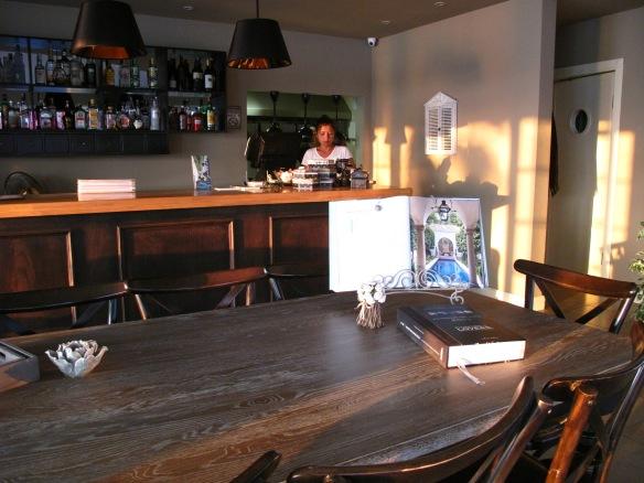 The cool, stylish interior of Veranda