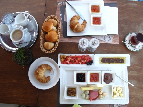 Who can resist a Turkish style breakfast with a buttery French croissant?
