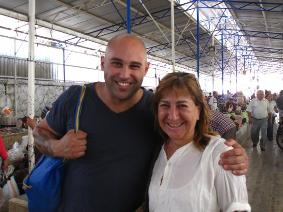 Shane and Ayşe meet at Fethiye's farmers' Market
